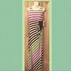 London Times Sleeveless Maxi Dress NWT